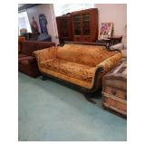 Antique Duncan fife couch in a beautiful Orange