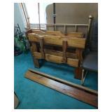 Oak twin sized bed frame
