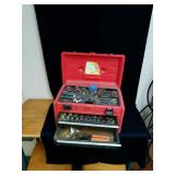 Red tool source box and contents