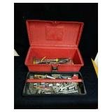 Plano red tool box and contents