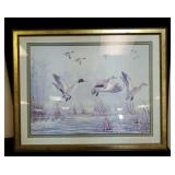 Flock of geese print approx size is 30 inches x