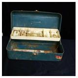 Old metal tackle box
