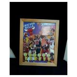 Chicago bulls framed poster approx size is