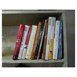Variety of cookbooks from various chefs