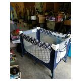 Cosco play pen blue and white good condition