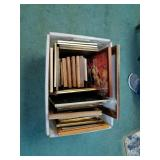 Box of multiple picture frames various sizes and
