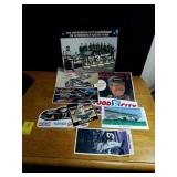Box of Dale Earnhardt stickers just a sample in
