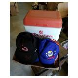 Snap on cooler and a bunch if NASCAR hats