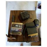 Heated travel mug, CB, hammer and misc