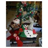 Lot of various Christmas decorations