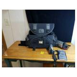 Pair of jvc camcorder and bag