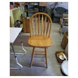 Nice Wooden bar stool approx 30 inches from seat