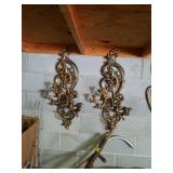 Beautiful pair of wall candelabra approx is 16