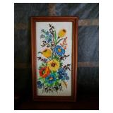 Handmade needlepoint artwork approx size is 12