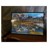 Framed puzzle  approx size 18inches x 14inches
