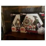 Pair of 18 inch cage shaoed mirrorfrom cage