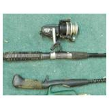 Daiwa Spinning Reel & 4 Fishing Rods