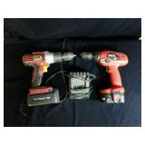 Skil 12 volt drill and Chicago electric 18v drill