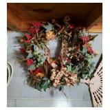 Beautiful fall wreath with pumpkins