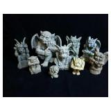 Large collection of gargoyles various sized
