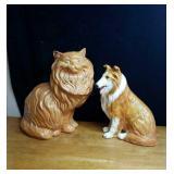 Big yellow cat and lassie dog cat is aporiz 14