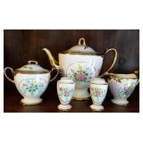 LeNoir tea set with sugar, creamer, salt&pepper &