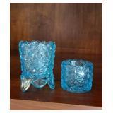 Lovely blue toothpick holder and salt