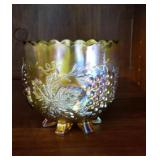 Northwood marigold carnival glass bowl approx 4