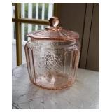 Charming pink cookie jar
