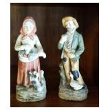 Pair of old country folks marked 1417 approx 8