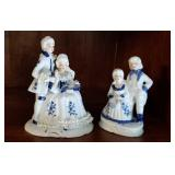 2 George and Martha figurines approx 6 and 5