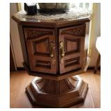 Pair of Vintage side table with door  approx  22
