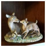 Nurturing Home interior Doe and her fawn