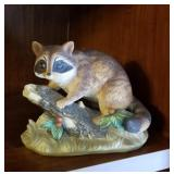 Cute Racoon in the woods figurine