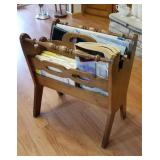 Handy Magazine rack and contents