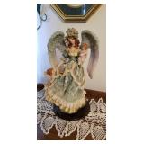 Heavenly angel and her babies statue approx 18