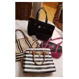 Group of 4 fashionable purses