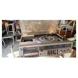 Fisher record player, tape player and radio