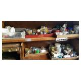 Contents of 2 shelves