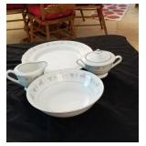 Rosemary pattern China serving dishes and cream &