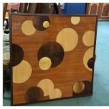 Vintage wood wall decor approx size 38 x 38