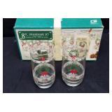 8pc Christmas drink ware set