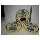 (3) Schlitz Light Beer Signs