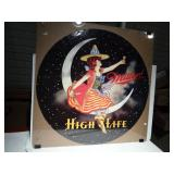 Miller High Life Lady on the Moon Sign