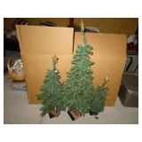 (3) Artificial Christmas Trees