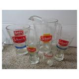 Schmidt Beer Pitchers & Glasses