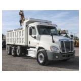 2012 FREIGHTLINER CASCADIA Tri-Axle Steel Dump Trk