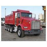 2008 KENWORTH T800 Quad Axle Steel Dump Truck