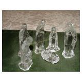 "6pc Glass nativity scene 4""h"