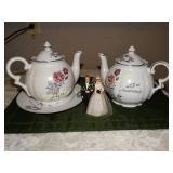 25th Anniversary Romance Rose japan 2 teapots,